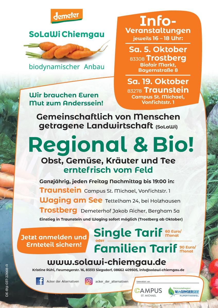 Solawi Chiemgau | Infoveranstaltungen Oktober 2019